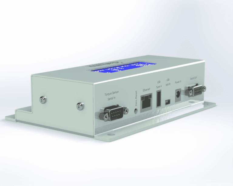 torque signal conditioner for inline static reaction torque sensors with ethernet USB port