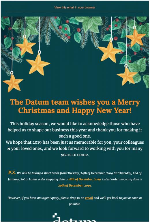 cover of christmas newsletter